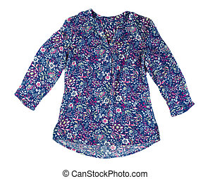 Women colored blouse.