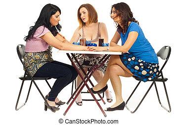 Women comforting their friend