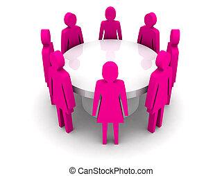 Women conference. - Women conference. Concept 3D...