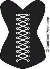 women corset silhouette