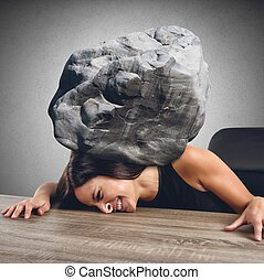 Women crushed by the weight of stone