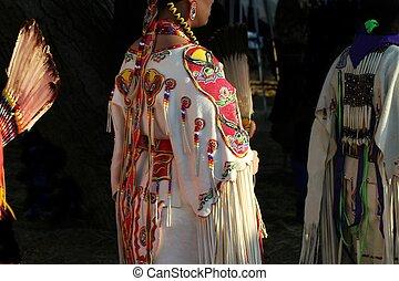 Women Dancers - Native American women dancers at a pow-wow