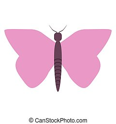women day pink butterfly icon