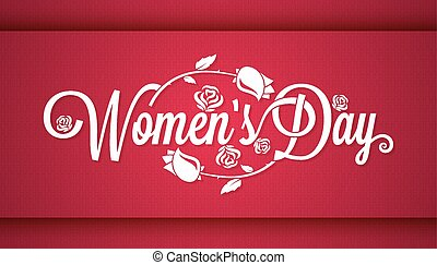 Women Day Vintage Lettering Banner Background