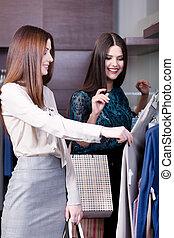 Women do shopping