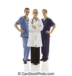 Women doctors.