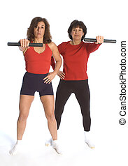 women exercising