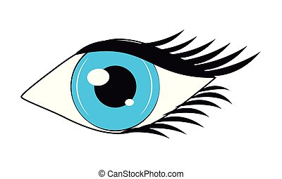 Women eye cartoon