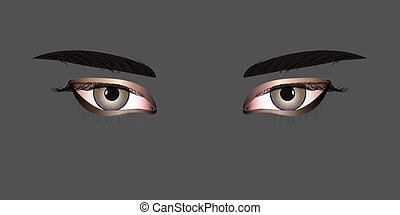 Women Eyes - Eyes are the organs of vision. They detect...