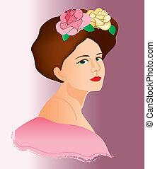 women face vintage 10