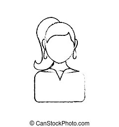 Women faceless profile