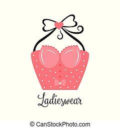 Women fashion logo design template Lingerie emblem