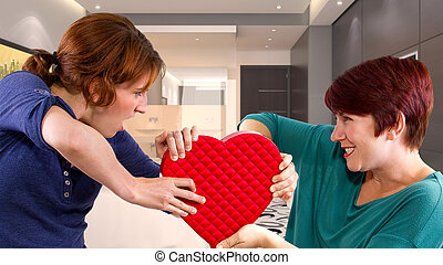 Women Fighting Over A Heart