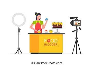 Women Food blogger