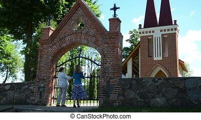 women gates open church
