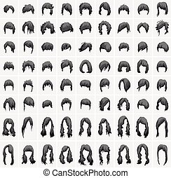 women hairstyles and haircuts in black tones - womens...