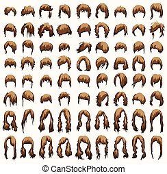women hairstyles and haircuts in brown tones - womens...