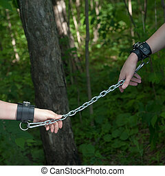 Women Hands Chained