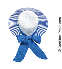 Women hat on white background - Women hat isolatedon white...