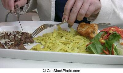Women having lunch at a restaurant