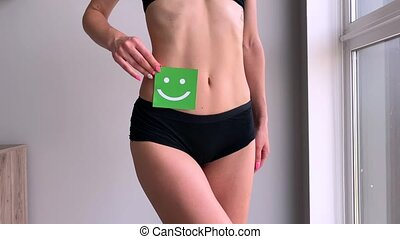 Women Health. Closeup Of Healthy Female With Beautiful Fit...