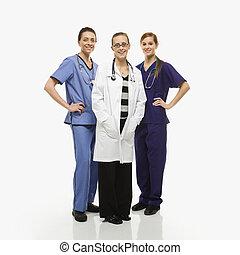 Women healthcare workers.