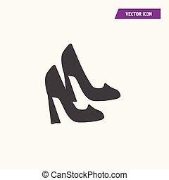 Women high heel shoes Icon.