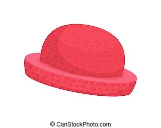 women., illustration, arrière-plan., vecteur, chapeau blanc, rouges