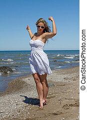 Women in Bikini on the Beach