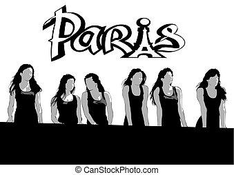 Women in black dresses two