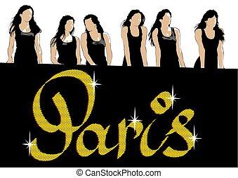 Women in black dresses