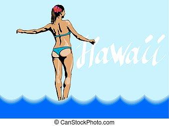 Women in Hawaii one