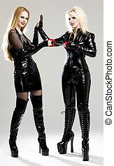 women in latex