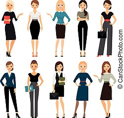 Women in office clothes. Beautiful woman in business...