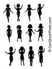 women in silhouette