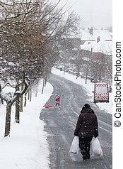 Women in the Snow