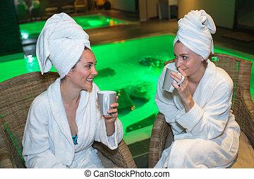 women in the spa