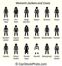 Women jackets and coats.