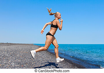 women jogging, running