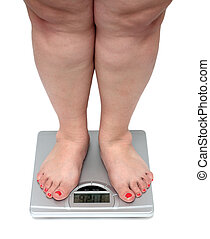 women legs with overweight