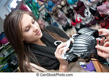 Women lingerie shopping