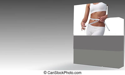 Women measuring their waist - Animation of women measuring...