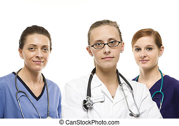 Women medical workers.