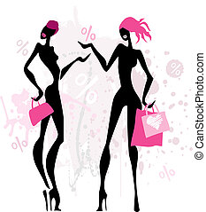 women., moda, shopping