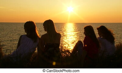 Women near the sea