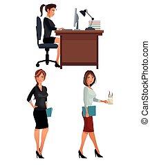 women office business coworkers employee