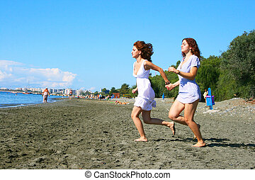 Women on beach