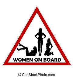 Women on board warning sign