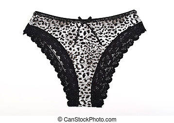 Women panties on a white background