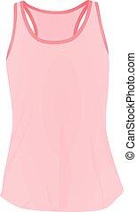 Women pink top tank vector illustration